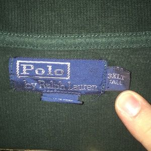 Polo by Ralph Lauren Shirts - Polo half zip sweater 3XL Tall